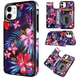 iPhone 11 Tropical Floral Wallet Phone Case